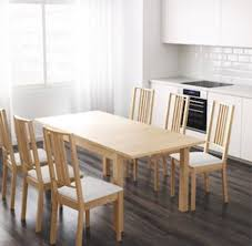 ikea table dining extending dining table oak ikea bjursta and six borje chairs seats