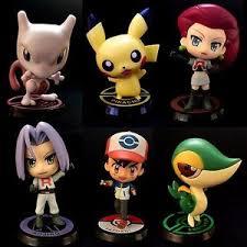 pikachu team rocket mewtwo ash 7 9cm figurines