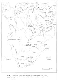 Map Of The Southern States Maps Of Kingdoms Peoples States And Cities In Africa Through
