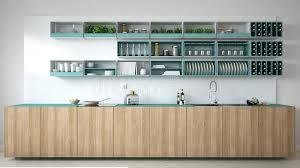 cuisine turquoise cuisine blanche scandinave avec les détails en bois et de