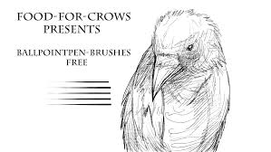 ballpointpen brushes free by food for crows on deviantart