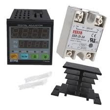 image 25a ssr 25da solid state relay with heat sink manual auto