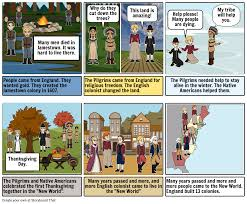 the first thanksgiving book english colonies storyboard by franci e