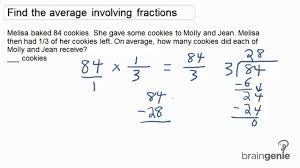 math problem fractions 1 5 2 find the average involving fractions word problem