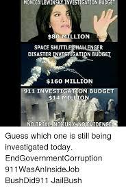 Monica Lewinsky Meme - monica lewinsky investigation budget 80 million space shuttle
