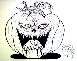 how to draw a evil pumkin for halloween youtube
