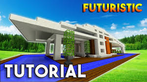 minecraft how to build a modern house futuristic modern house