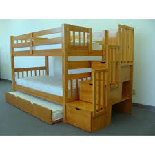 Stackable Bunk Beds Alluring Trundle Bunk Bed With Stairs Stackable Bunk Bed With