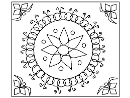 free printable rangoli coloring pages kids