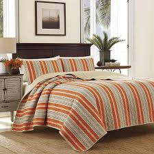 rusty red sage green quilt king set vertical striped bedding