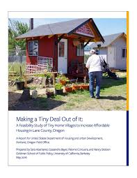 hud commissioned study recommends building tiny home villages to