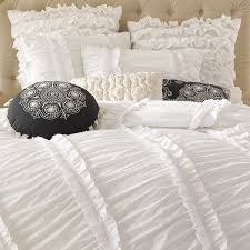 white ruffled bedding white ruffle bedding shabby chic for