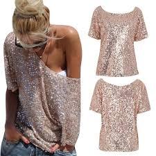 2017 fashion sequin t shirt clothing slim summer