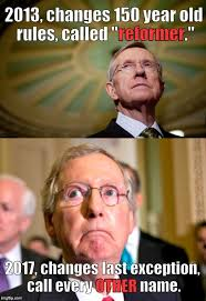 Emerged Meme - the concept of the filibuster emerged in the senate in the 1850s