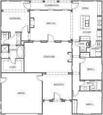 u shaped floor plans with courtyard 2 story house plans with courtyard unique 58 new u shaped house