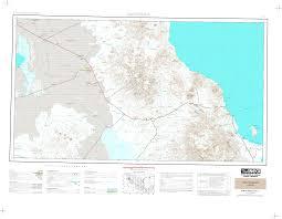 Sinaloa Mexico Map Carta Topografica Imagen Digital Escala 1 250000 Serie Ii