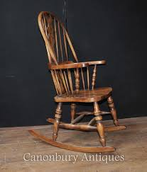 Antique Victorian Rocking Chair Hand Carved English Windsor Rocking Chair Farmhouse Chairs Ebay