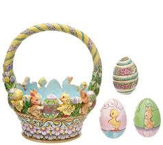 jim shore easter baskets jim shore 12th annual easter basket page 1 qvc
