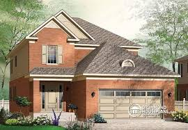 house plans for narrow lots with front garage house plan w3858 detail from drummondhouseplans com