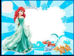 the little mermaid free printable invitations cards or photo