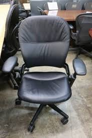 black leather steelcase leap chair used office chairs atlanta