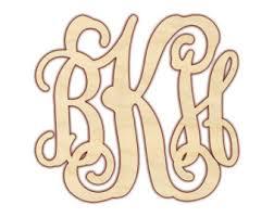 three letter monogram 3 letter monogram etsy
