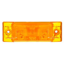truck lite marker lights by truck lite super 21 incandescent yellow rectangular 1 bulb