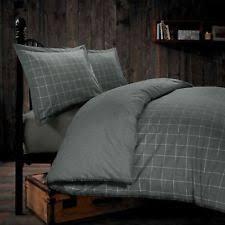 Tartan Flannelette Duvet Cover Checked Contemporary 100 Cotton Bedding Sets U0026 Duvet Covers Ebay