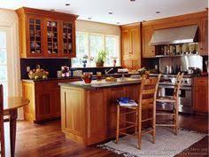 Kitchen Ideas With Cherry Cabinets Kitchen With Cherry Cabinets And Hickory Floors Kitchen Ideas