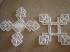plastic canvas snowflake cutout https www etsy listing