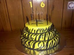 zebra striped birthday cake cakecentral com