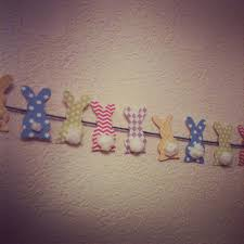 Diy Spring Easter Decorations by Diy Spring Easter Bunny Bunting Banner Crafty Bits