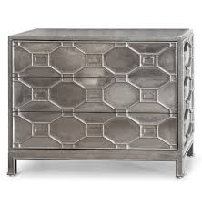 Metal Bedroom Dresser Chatham Regency Silver Lattice Metal Clad 3