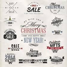 free vector christmas typography logo design elements free