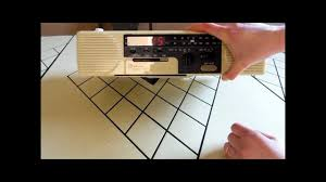 ge spacemaker cassette clock radio 1980s under counter youtube
