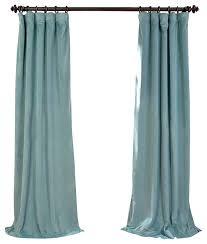 Turquoise Velvet Curtains Signature Aqua Mist Blackout Velvet Curtain Single Panel