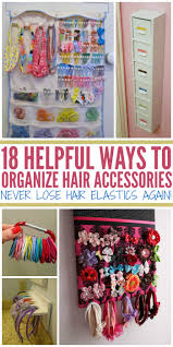 how to organize hair accessories never lose hair elastics again