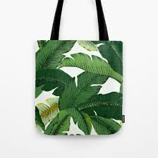 palm leaf tote bag palm leaves canvas tote banana leaves tote