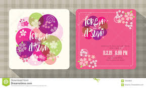 Free Wedding Invitation Card Template Floral Cherry Blossom Wedding Invitation Card Template Stock