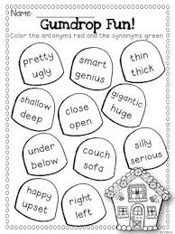 synonym worksheets 2nd grade worksheets