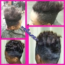 blowout silk press hair straightening at trendz by tammy hair