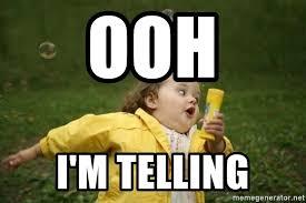 Ooh Meme - ooh i m telling little girl running away meme generator