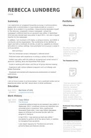 Visual Resume Samples by Copy Editor Resume U2013 Resume Examples