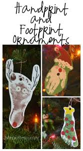print and footprint ornaments and gift tags