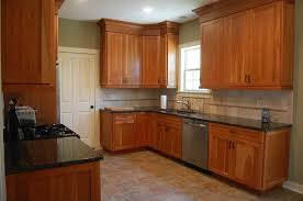 kitchen wonderful natural cherry shaker kitchen cabinets 8195211