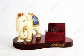 thailand elephant color white resin for input card home decor