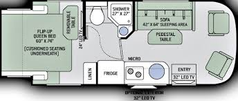 Type B Motorhome Floor Plans Luxury Class B Motorhomes 22 U0027 Nashville Rv