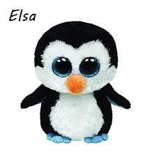 original ty beanie boos big eyes plush toy doll black penguin ty