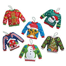 bucilla sweaters ornaments felt sequin