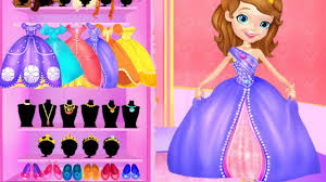 disney princess sofia makeover video play girls games online dress